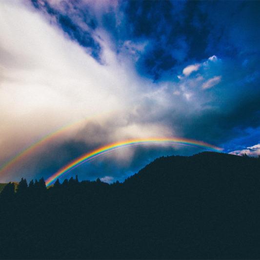 Sichtbares Licht und Regenbogen